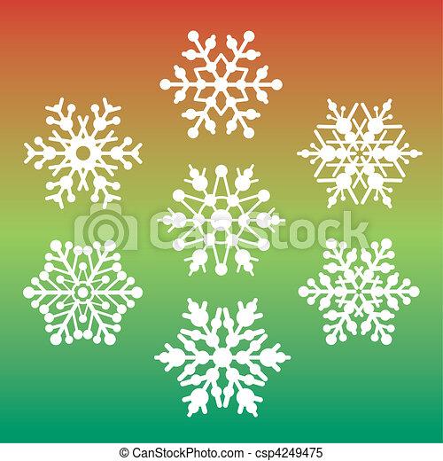 Seven Snowflakes - csp4249475