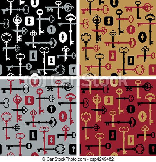 Skeleton Keys-Locks Pattern - csp4249482