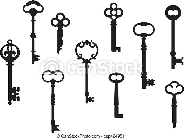 Ten Skeleton Keys - csp4249511