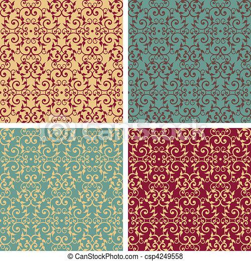 Vintage Victorian Pattern_Warm-Cool - csp4249558