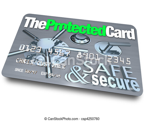 Credit Card - Safe and Secure - csp4250760