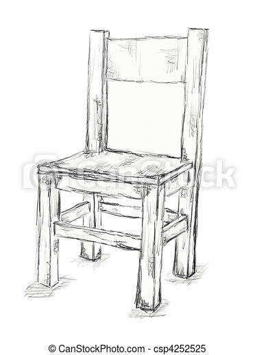 Chair 4252525 on One Point Perspective Drawing