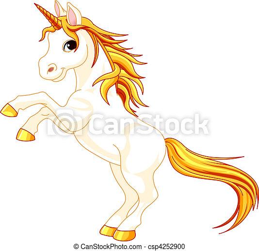 Rearing up unicorn - csp4252900