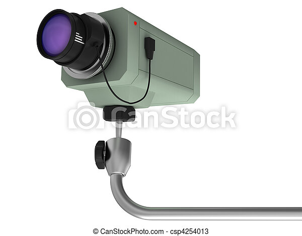 videocamera of supervision - csp4254013