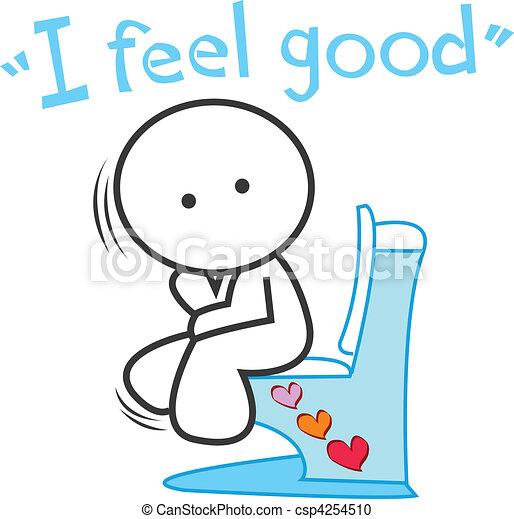 cartoon I feel good - csp4254510