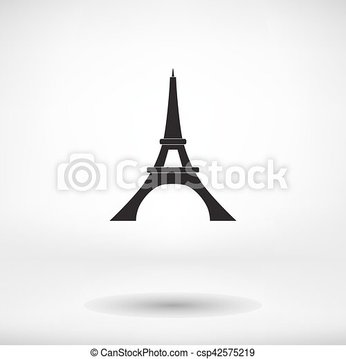 Eiffel tower icon - csp42575219