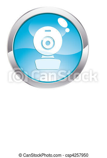 Gloss Button with web cam - csp4257950