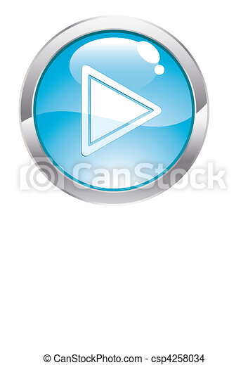 Gloss Button with Play - csp4258034