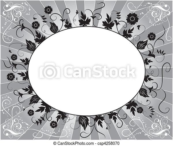 Element for design, flower frame - csp4258070