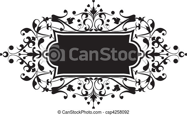 Element for design, flowers ornament - csp4258092