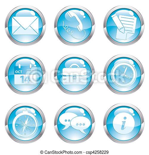 Set Business Gloss Button - csp4258229