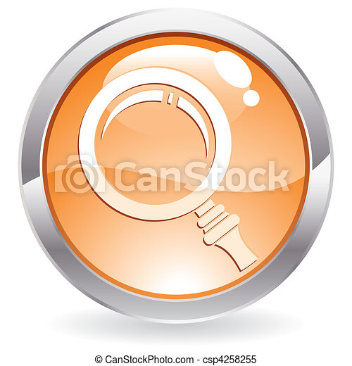 Gloss Button with magnifier - csp4258255