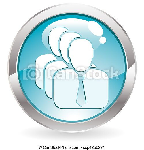 Gloss Button with Man - csp4258271