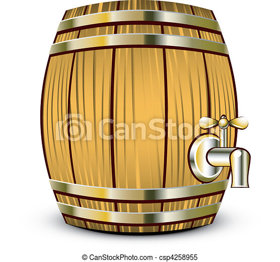 Wooden barrel - csp4258955