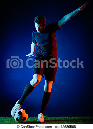 Soccer player Man isolated - csp42589568