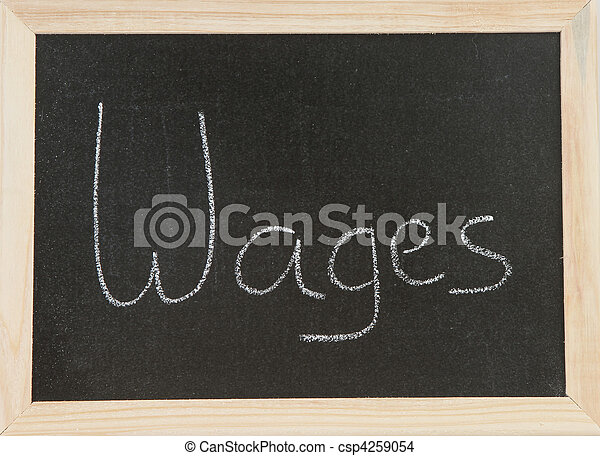 Board with Wages. - csp4259054