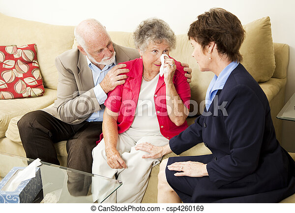 Senior Couple Grief Counseling - csp4260169