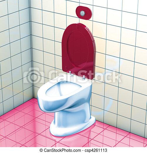 Tekeningen van toilette wc 3d vertolking badkamer for Badkamer plannen in 3d
