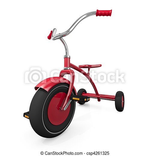 Red tricycle - csp4261325