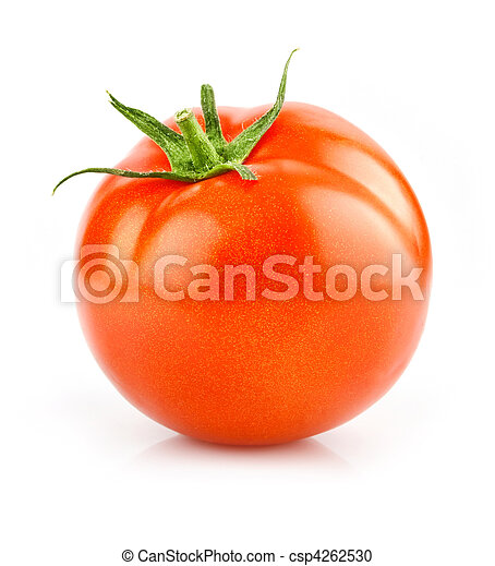 red tomato vegetable isolated on white - csp4262530