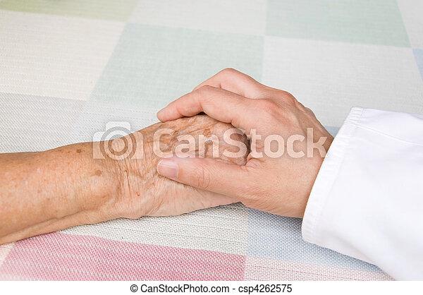 doctor and elderly patient - csp4262575