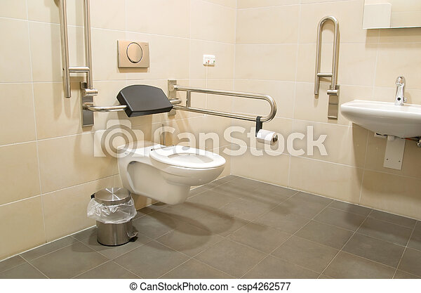 bathroom for disabled people - csp4262577