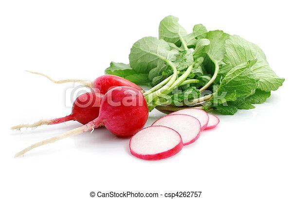 bunch fresh radish with cut - csp4262757