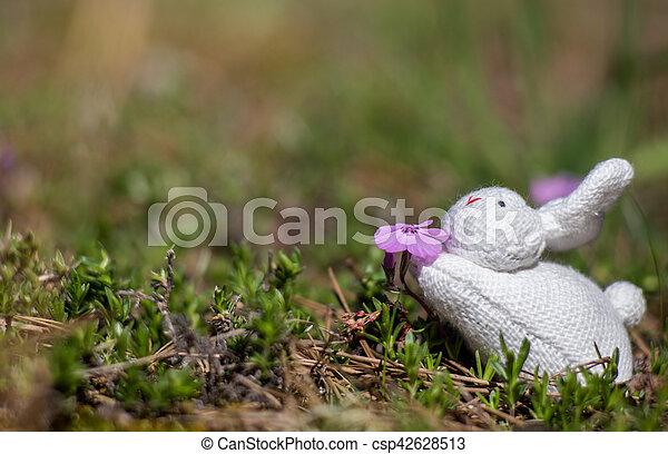 用力吸气, 玩具, 花 - csp42628513