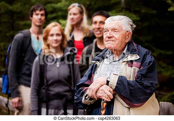 Elderly Man Tour Guide - csp4263063
