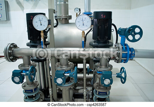 Group of powerful pumps - csp4263587