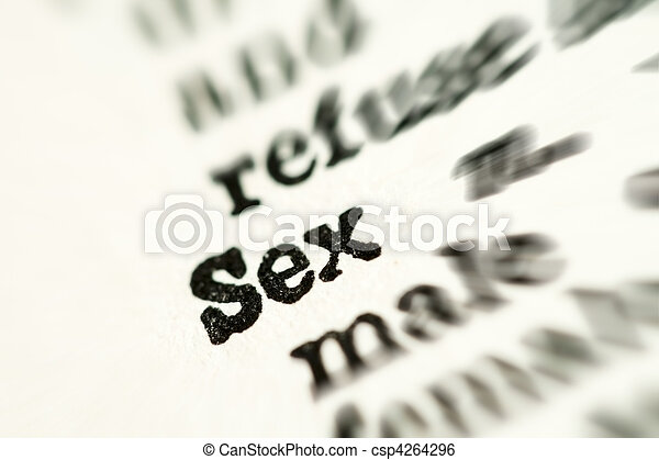 sexo, palabra, diccionario - csp4264296