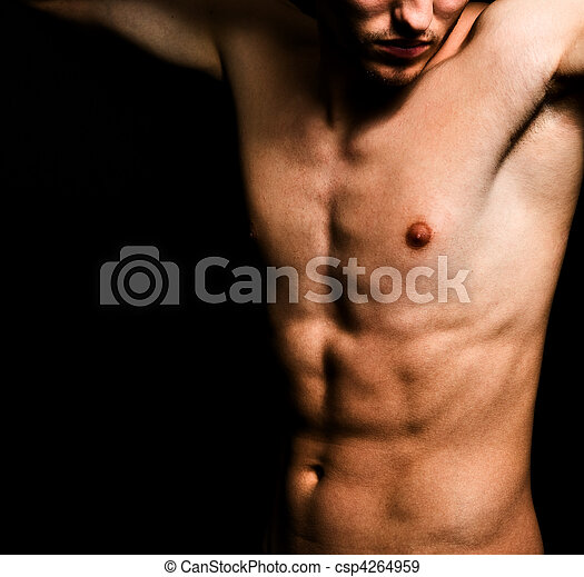 Artistic image of muscular sexy man body - csp4264959