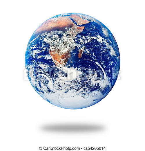 Planet Earth isolated on white - csp4265014