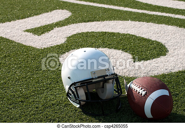 American Football Equipment on Field - csp4265055
