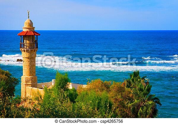 Landscape view from Tel Aviv coastline, Israel - csp4265756