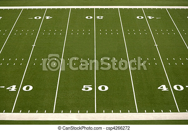 Empty American Football Field - csp4266272