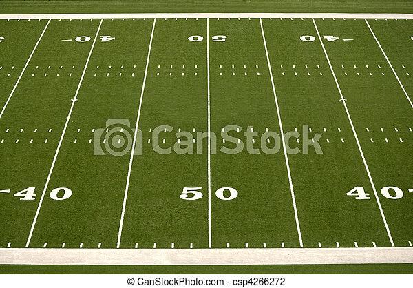 Empty American Football Field - csp4266272