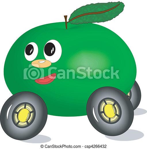 Apple-care ,ecology transport. - csp4266432