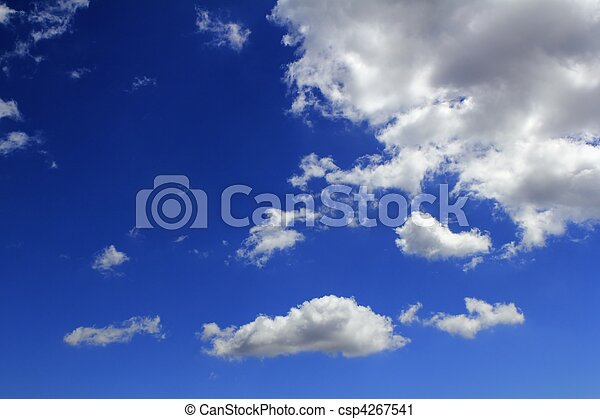 blue sky clouds gradient background cloudscape - csp4267541