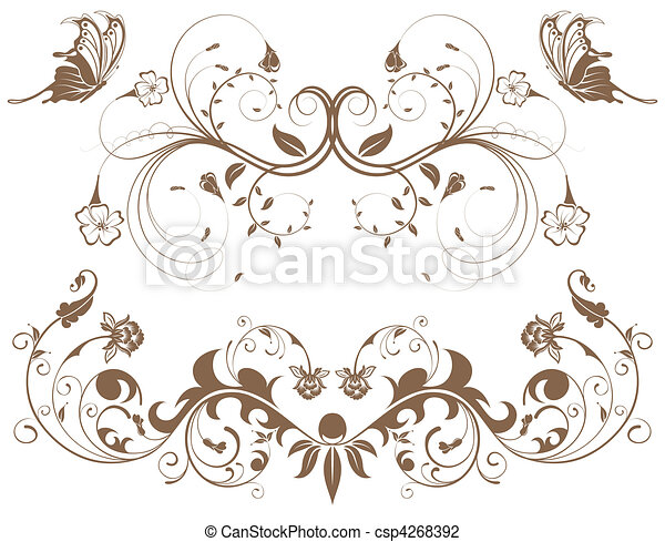 Collect flower border - csp4268392