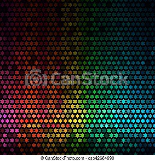 Pixel Art Etoile Multicolore