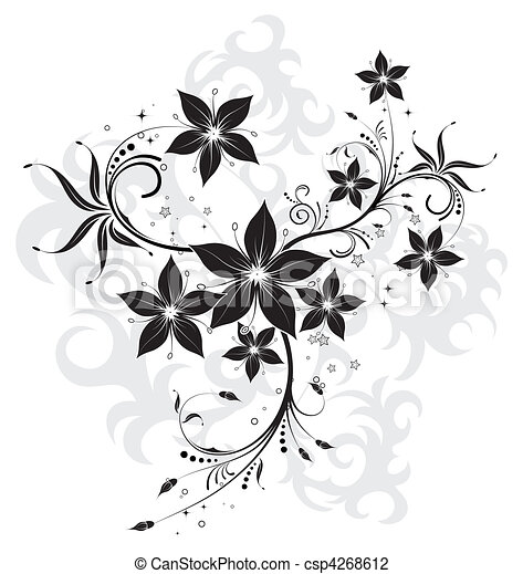 Abstract flower background - csp4268612