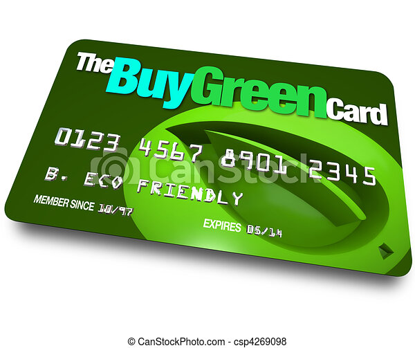 Credit Card - Buy Green - csp4269098