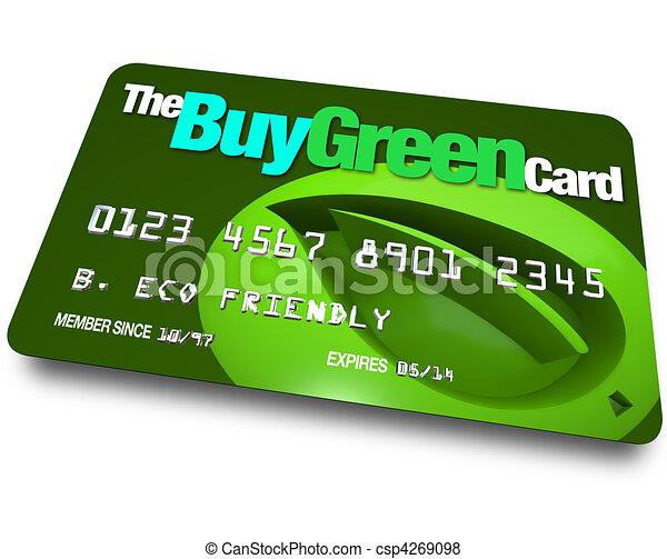 Credit Card - Buy Green - csp4269098