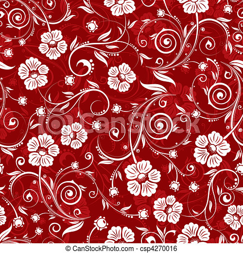 Flower seamless pattern - csp4270016