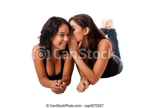 Telling secret gossip girls - csp4270357