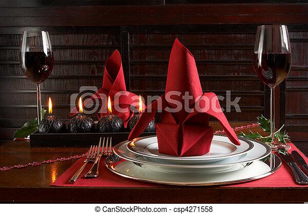 Christmas dinner - csp4271558