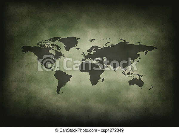 Vintage and grunge world. Historical world map.