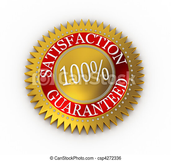 Isolated Satisfaction Guaranteed seal over white - csp4272336