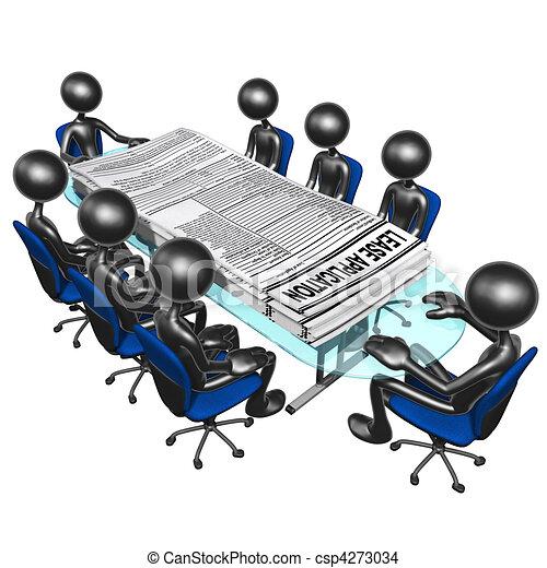 Tekening van huurcontract, Toepassingen, vergadering - Een, concept ...